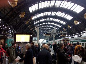 Wouter op weg naar Italie per trein